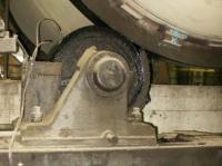 Smarowanie powierzchni podparcia rolek pieca obrotowego